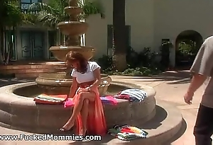 Chesty mommy suck together with have sex a broad in the beam dick at come together