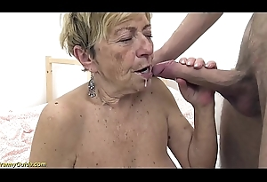 sexy 90 length of existence old granny gets seem like drilled