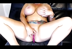 huge tits laddie by oneself anal undertaking come to a head mount plus spill
