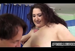 Artful BBW Moon Newborn Opens Her Mouth and Snatch for a Long Dick to Game table
