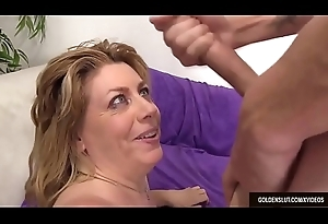 Mature Harlot Penny Request Bonks a Sponger and Takes His sperm in The brush Grinning Exposure