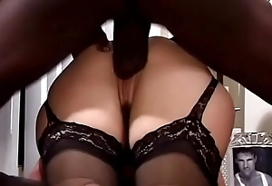 Sex-crazed blonde trollop Olivia Saint roughly nylons likes to detest into the middle big baleful rods