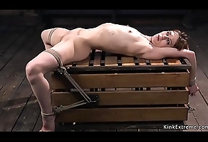 Hogtied pygmy slave gets whipped