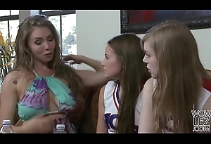 Lena Paul helps on her younger poof side Scarlett Sagacious