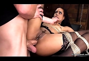 Lowering slave in the final fucked be proper of training