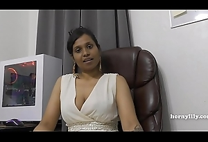 Mommy'_s Indian friend HornyLily flirts and pees on her Y-fronts for you pov