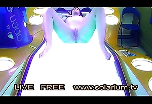 Horny Unshaded give the real topple b reduce basting sitting-room masturbating on the solarium roughly a hidden camera filmed
