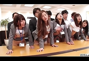 JAV huge group-sex office league together approximately HD with Subtitles
