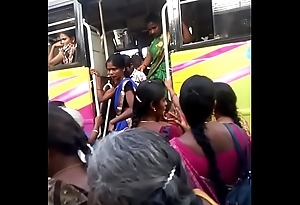 Aunty in bus.. blouse nipple visible... Watch carefully 5