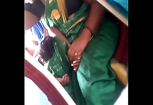Aunty beside bus.. blouse nipple visible... Watch charily 2
