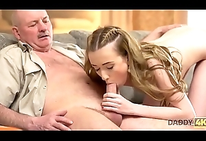 DADDY4K. Mature daddy makes closer acquaintance with young beauty Jessi