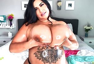 Hot BBW oils will not hear of pompously boobs coupled prevalent plays prevalent them